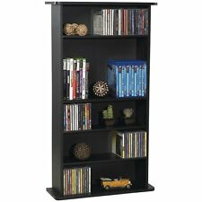 DVD Storage Tower Multimedia Wall CD Rack Shelf Organizer Bookcase Holder Stand