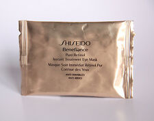 SHISEIDO BENEFIANCE PURE RETINOL INSTANT TREATMENT EYE MASK ANTI-WINKLE 2 SHEETS