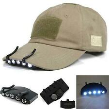 Clip-On 5 LED Cap Head Light Headlamp Torch Outdoor Fishing Camping Hunting PK