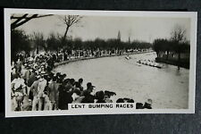 Lent Bumping Races   Clare College v Downing College   1930's Photo Card  VGC