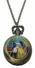 "Disney's BEAUTY And The BEAST Pendant Watch on 30"" Chain"