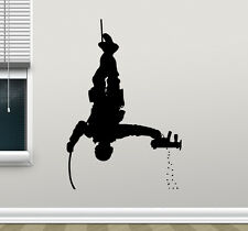 Soldier Wall Decal Police Special Forces Gun Vinyl Sticker Decor Mural 187xxx