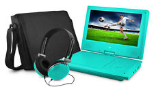 "Ematic EPD909TL Portable DVD Player - 9"" Display - 640 x 234 - Teal"