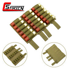 Airsoft 18 Rounds Molle Shotgun 12GA Gauge Ammo Shell Pouch Holder Carrier Tan