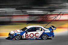 Jason Bright SIGNED 12x8,Team BOC Holden Commodore , Clipsal 500 Adelaide 2014.