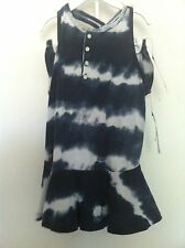 Ralph Lauren Infant Girls Dress Navy Tie Dye Sleeveless Bloomers Size 24M NWT