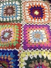 Huge Hand Crochet Throw Rug Blanket Cotton Multi Colours 159x225cm 62.5x88.5""