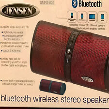 Jensen SMPS-622-R Bluetooth Wireless Rechargeable Stereo Speaker for iOS/Android