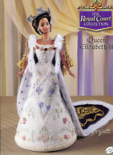 Queen Elizabeth II, Annie's Royal Court Collection crochet patterns fit Barbie