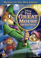THE GREAT MOUSE DETECTIVE New Sealed DVD Disney Mystery in the Mist Edition