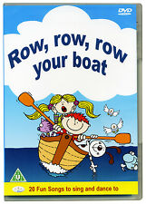 Row Row Row Your Boat DVD, nursery rhymes, childrens songs, kids, music *NEW*
