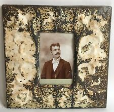 "Antique Ceiling Tin Picture Frame 4"" x 6"" *SEE OUR SALVAGE VIDEOs*  Ivory A11a"
