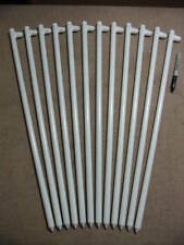 """12 pack of 24"""" long White steel stakes,pegs or spikes! Wedding/party tents!"""