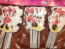 MINNIE MOUSE 12 PIECE PARTY FAVOR TOPPERS, HARD TO FIND! CUTE!