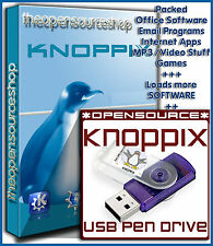 Knoppix 7.4.2 Live Linux 64GB 3.0 Bootable USB FLASH DRIVE - Simply PLUG 'n GO