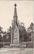Norway Norge Halden - Fredriksten Carl XII's Monument 1910 used postcard