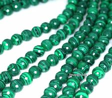 """10Mm Hedge Mazes Malachite Gemstone Green Faceted Round 10Mm Loose Beads 7"""""""
