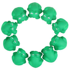 Cute One Dozen Rubber Cute Frog With Sound Shower Favors Baby Toy Gift NEW