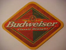 Beer Coaster ~ Anheuser-Busch BUDWEISER Classic Draught Since 1876 ~ St Louis MO