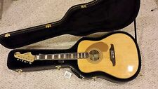 Fender Elvis Presley Kingman acoustic clambake guitar, hard case, tuner, strap