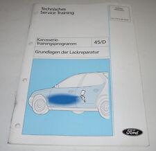 Technische Information Ford Karosserie Lackreparatur Stand Oktober 1997!