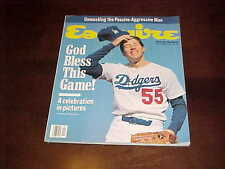 1989 Esquire Magazine Orel Hershiser Los Angeles Dodgers Baseball Cover