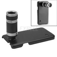 8X Zoom Telescope Camera Lens + Black Phone Case Cover for Samsung Galaxy S5