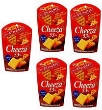 Glico☀Japan-CHEEZA Cheddar cheese Heavy cheese crackers 50g ×5P set