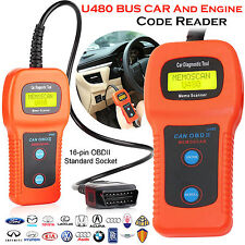 U480 SCANNER AUTO codice di guasto lettore può BUS OBD2 EOBD ENGINE Diagnostic Tool UK