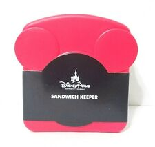 DISNEY PARKS MICKEY MOUSE ICON SANDWICH RED KEEPER STORAGE CONTAINER BOX  RED