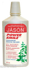 Jason POWER SMILE Brightening Peppermint Fresh Breath Powersmile MOUTHWASH 473ml