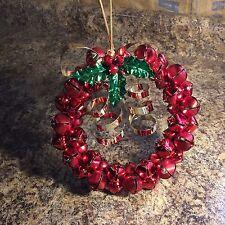 Festive Red Jingle Bell Wreath