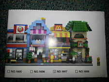 "LEGO COMPATIBLE 4 INSTRUCTIONS (DIGITAL) MINI MODULAR BUILDINGS (L1) ""KFC"",""McD"""