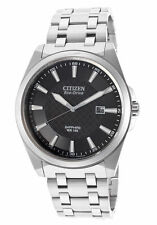 Citizen Eco Drive BM7100-59E Mens Steel Sapphire Date Black Dial 41mm Watch