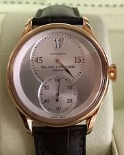 BAUME & MERCIER CLASSIMA REF #65572 JUMP HOUR 18K ROSE GOLD AUTOMATIC MENS WATCH