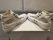BN Converse All Star Hi Off White Mono Canvas Trainers UK 7!