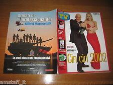 TV SORRISI E CANZONI=2002/1=MICHELLE HUNZIKER=CLAUDIO BISIO=PAOLO BELLI=