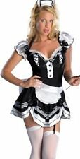 Ladies 3 Piece Sexy French Maid Costume Size 10 Includes Dress Hat & Apron 5715
