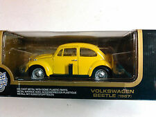 ROAD TOUGH YELLOW HARD TOP BUG VW Beetle 1:18 SCALE