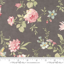 MODA Fabric ~ POETRY ~ by 3 Sister's (44130 12) Charcoal - by the 1/2 yd