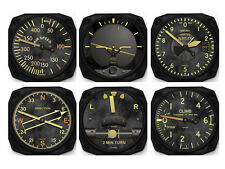 Vintage Aircraft Instrument Coaster Set by Trintec (Set of 6) - 9045