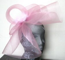 baby pink feather fascinator millinery burlesque headband wedding hat hair piece