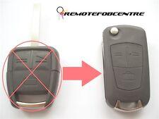 Actualización de 3 Botones Flip Llave Carcasa Para Opel Opel Vectra Signum Zafira Remoto Fob