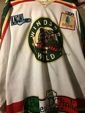 LNAH QSCHL QMJHL 2011-2012 WINDSOR WILD  GAME WORN KARL ST. PIERRE HOCKEY JERSEY