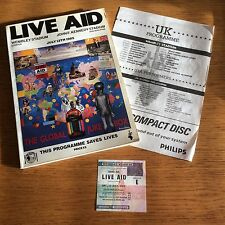 LIVE AID - LONDON '85 - ORIGINAL TICKET, PROGRAMME AND SCHEDULE *RARE*
