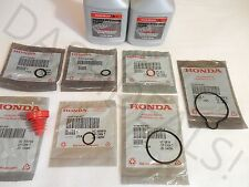 NEW GENUINE HONDA Power Steering Pump Oil O-Ring Seals & Fluid - 9 pc Reseal Kit