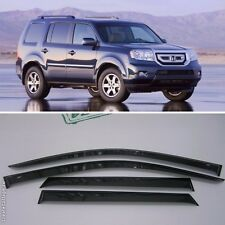 For Honda Pilot 2009-2015 Window Visors Side Sun Rain Guard Vent Deflectors