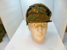 GERMAN ARMY A. KEMPF TEUNZ  FLECTARN CAMO WINTER HAT WITH PULL DOWN EAR FLAPS
