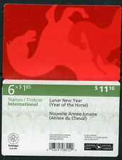 Weeda Canada 2701a VF mint NH booklet, 2014 Lunar New Year of the Horse CV $22+