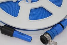 Flat hose reel 20 Metres of food safe drinkable hose Motorhome or Caravan useage